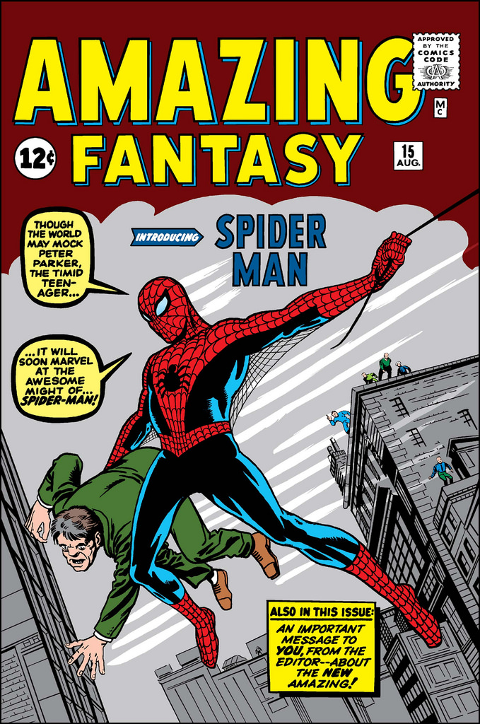 Amazing fantasy, comic de spiderman