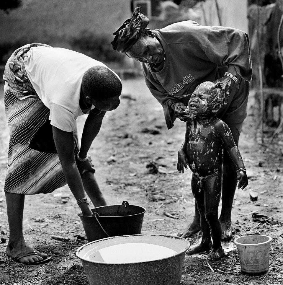 Niños africanos.