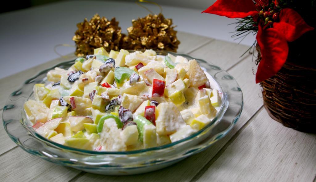 Ensalada navideña de frutas