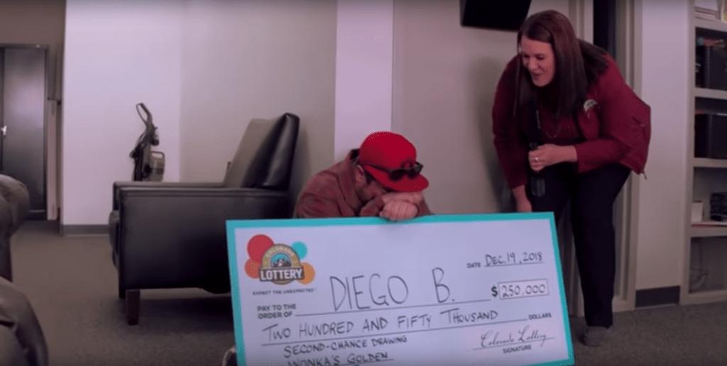 Indigente lotería