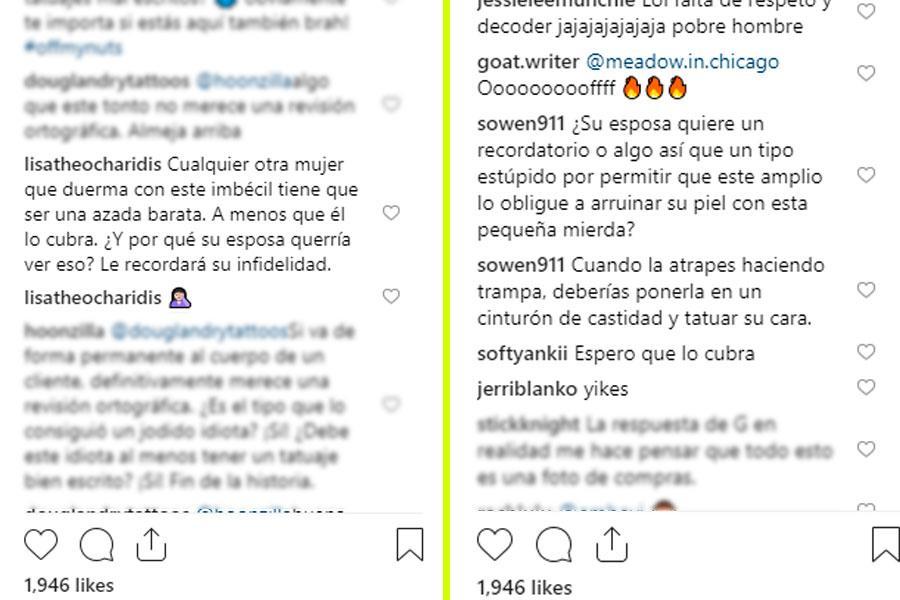 Instagram: Hombre se tatua mensaje por infiel