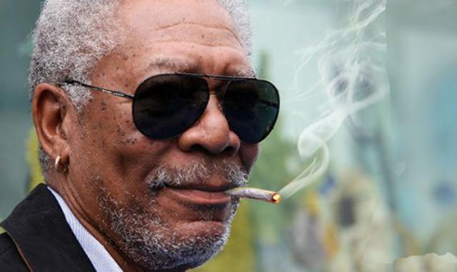 Morgan Freeman le gusta fumar marihuana
