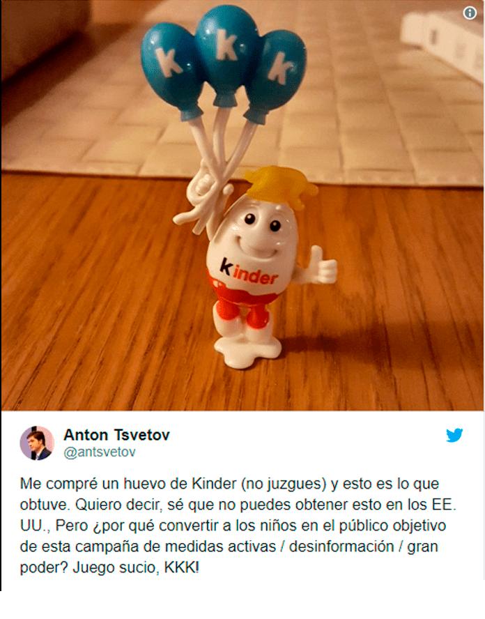 Huevos kinder polemica en twitter