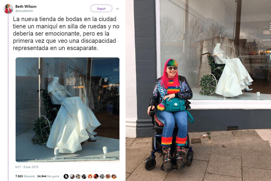 Tienda de novias apoya la inclusion de personas discapacitadas