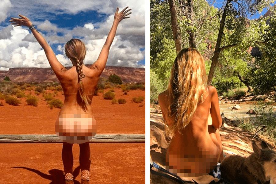 Se desnuda en instagram