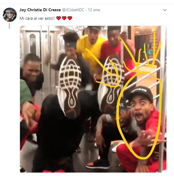 Reto viral en metro
