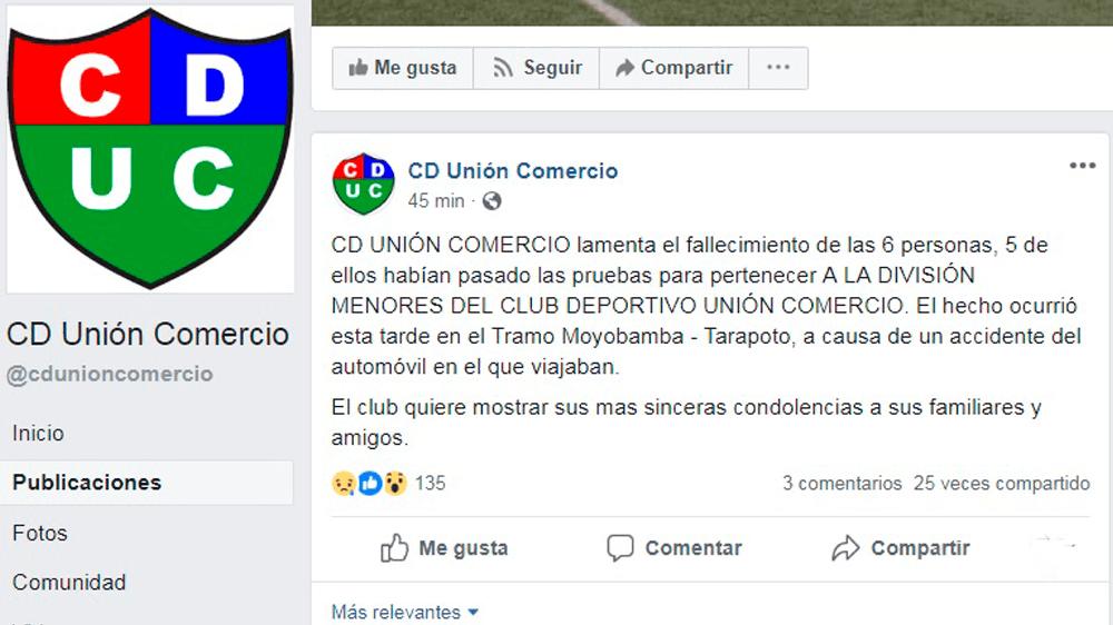 comunicado facebook