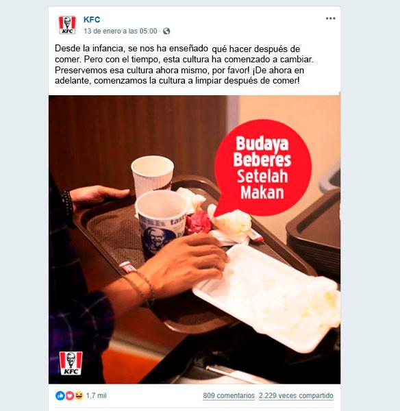 KFC polémica en facebook