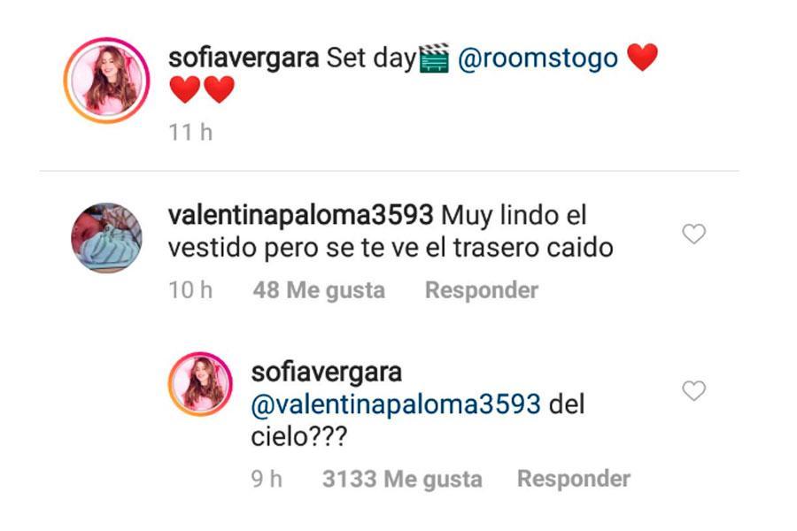 Sofia Vergara responde criticas sobre su trasero