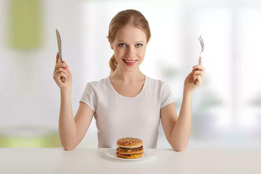 Una dieta saludable permite comer una hamburguesa