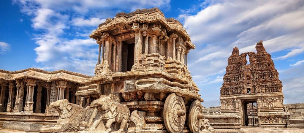 derriban columna templo en India