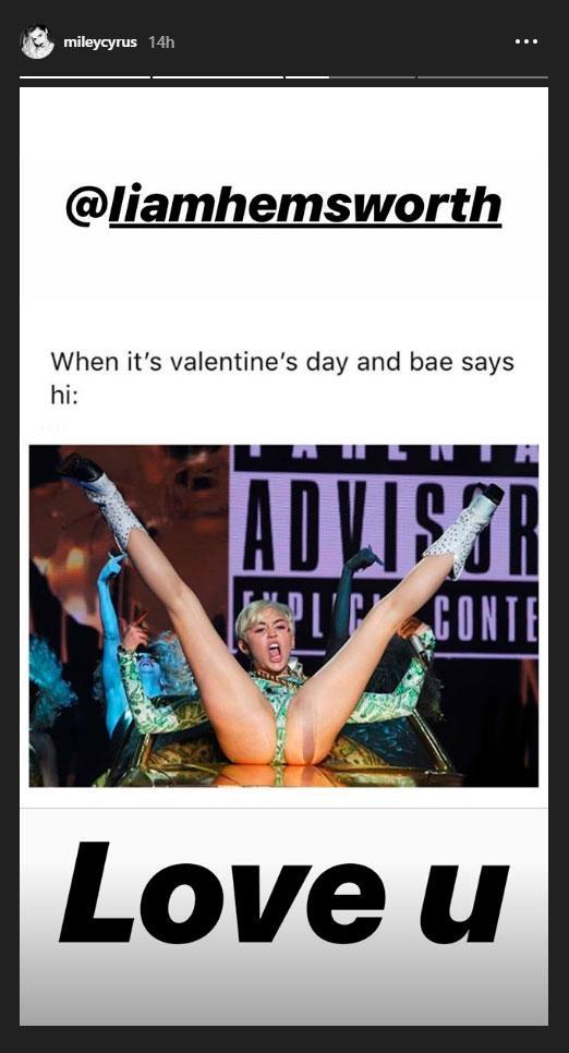 El mensaje de San Valentin de Miley Cyrus