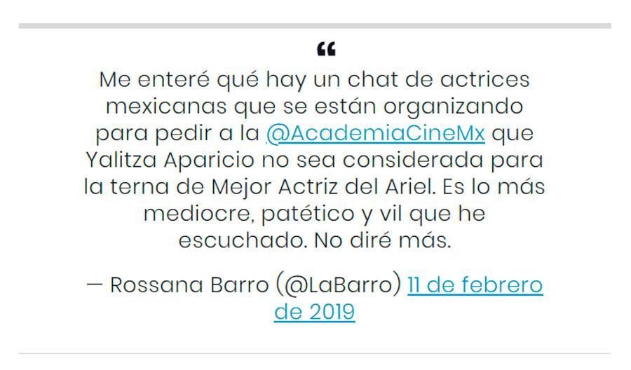 Yalitza Aparicio Twitter Premios Ariel