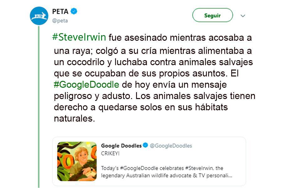 PETA GOOGLE