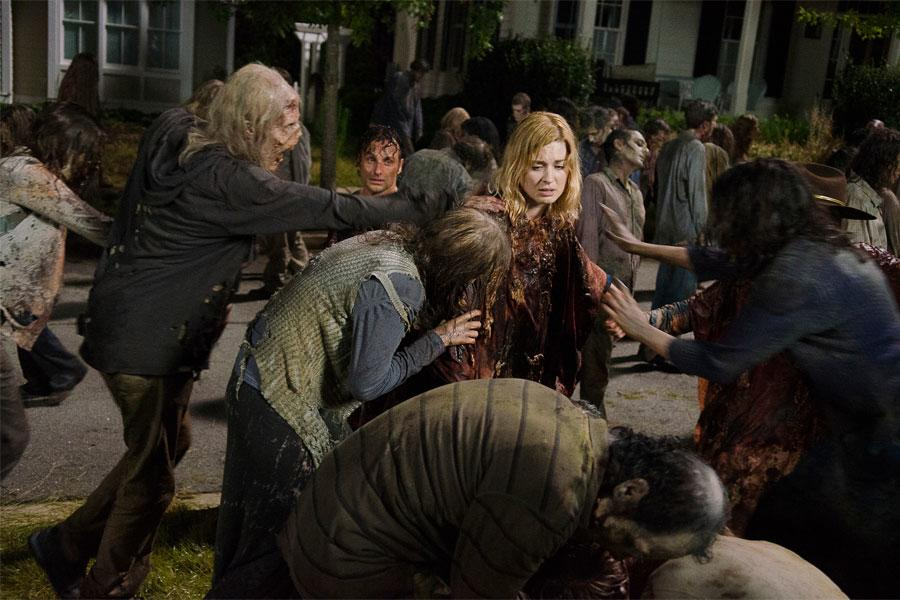 The Walking Dead S6 - EP 9 - Jessie and Sam death