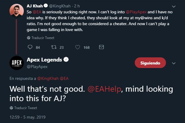 Apex Legends servidores caen