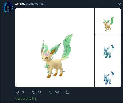 Glaceon, Leafeon, Pokémon GO